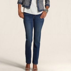 Chicos the so lifting straight leg jeans dark wash